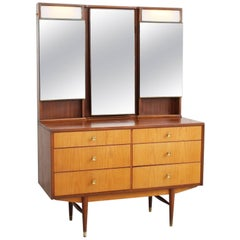 Midcentury Dressing Table with Light