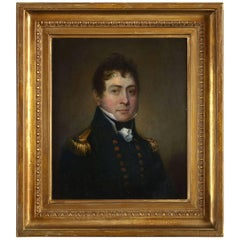 Early 19th Century Regency Period Portrait of a Naval Officer