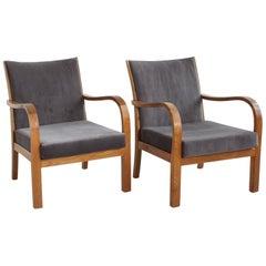 Midcentury Velvet Lounge Chairs