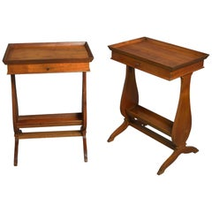 Early 20th Century Pair of Walnut Bedside Tables or End Tables