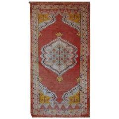 Handmade Antique Turkish Anatolian Rug, 1920s, 1C526