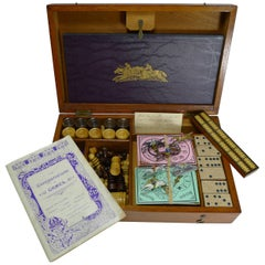 Antique English Games Box / Compendium, circa 1905