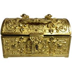 Antique German Bronze Jewel Box, circa 1890-1900