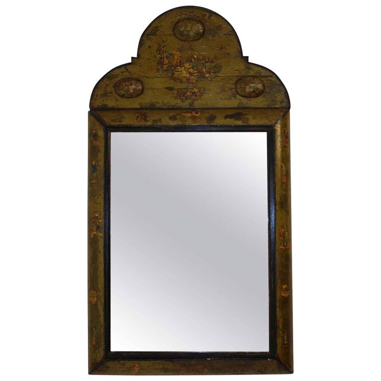 Dutch Painted and Decoupage Mirror, circa 1800