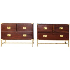 Pair of 19th Century English Campaign Chests