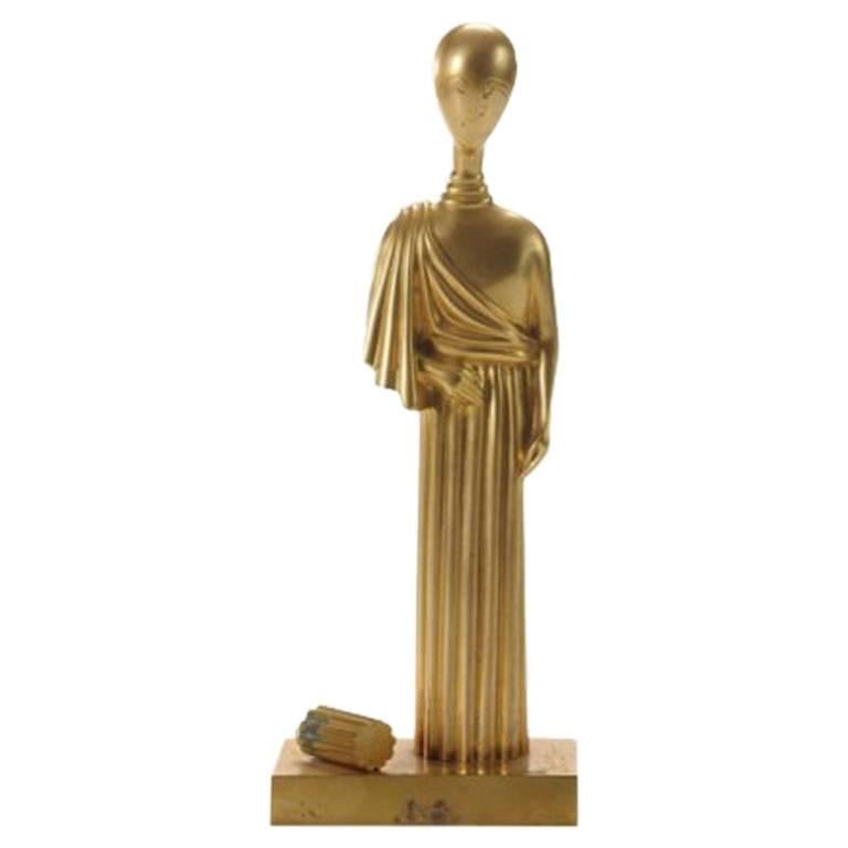 "Giorgio De Chirico, ""L'archeologo"" Seated Figural Sculpture, Italy, 1971 For Sale"