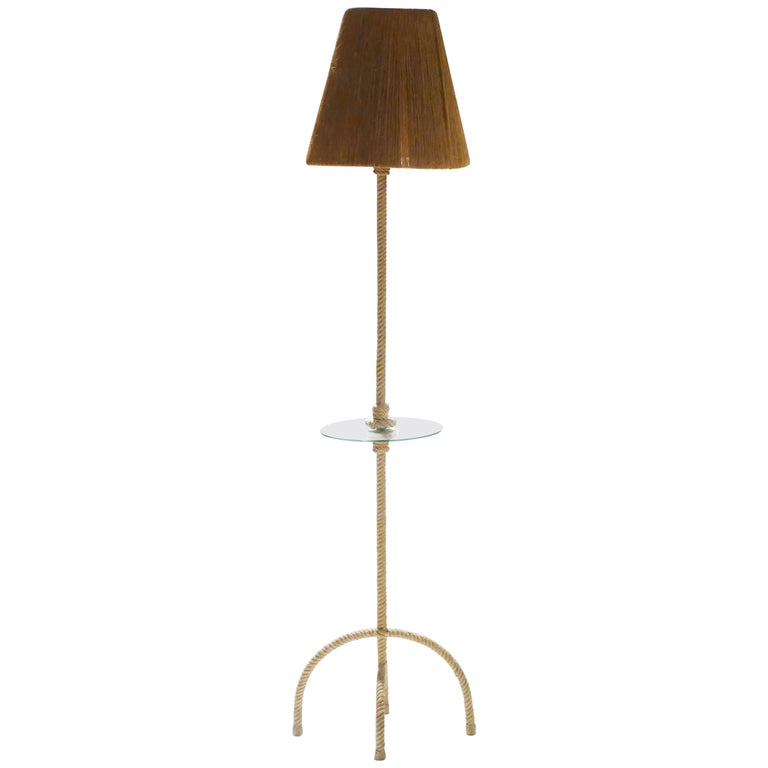 Audoux Minet Rope Floor Lamp, 1960s
