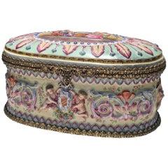 19th Century Capo Di Monte Porcelain Box
