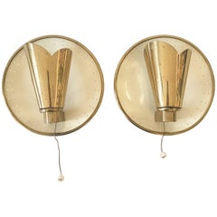 Pair of Wall Lamps by Jacques Biny Attributed, 1950s
