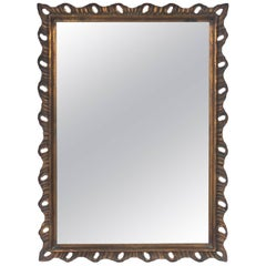 Gilt Scalloped Mirror, circa 1940s