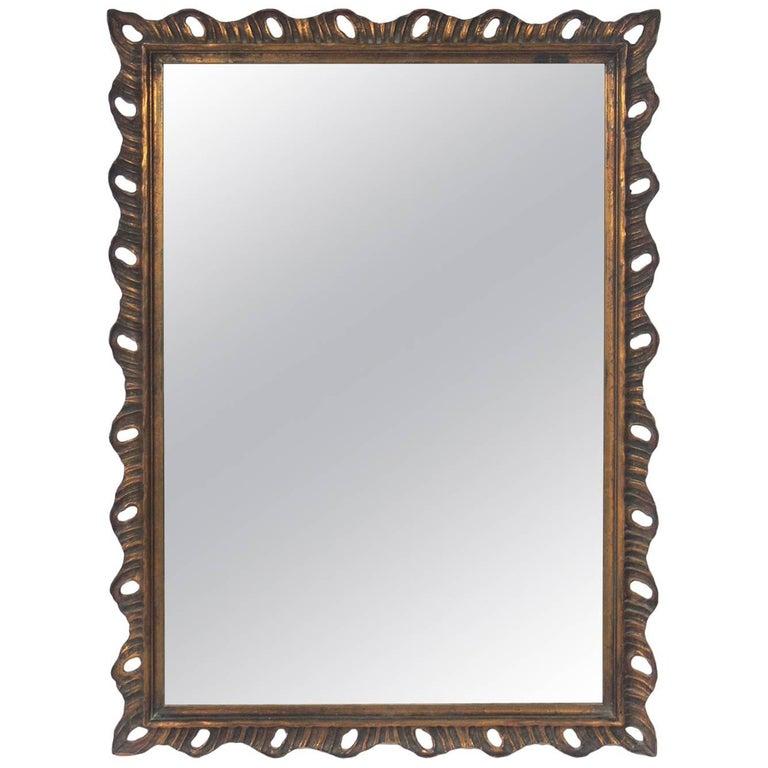 Gilt Scalloped Mirror, circa 1940s