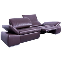 Koinor Evento Designer Sofa Brown Mocca Leather Electric Function Modern