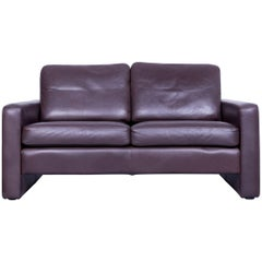 COR Conseta Designer Sofa Leather Brown Two-Seat Couch Friedrich-Wilhelm Möller