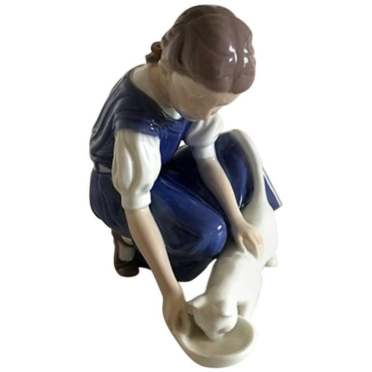 Bing And Grondahl Figurine Girl Skating 2351 For Sale At