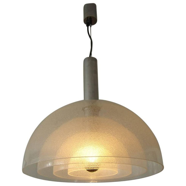 Large Four-Layer Murano Glass Pendant Lamp by Carlo Nason for Mazzega, 1960s