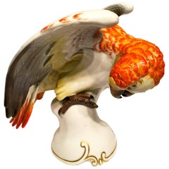 Rosenthal Orange Parrot German Art Deco Porcelain, circa 1930