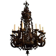 Antique Chandelier of Iron