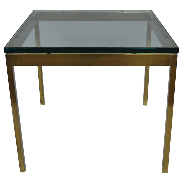 Burnished Brass Bronze Finish Square Lamp Side Table by Scope Furniture Ltd