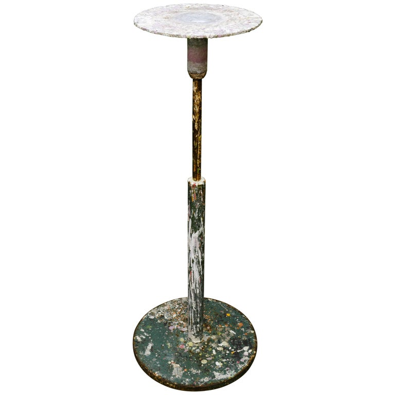 Industrial Belgian Potters Table with Spinning Top, circa 1920