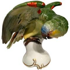ROSENTHAL Brazilian Parrot, German Art Deco Porcelain, circa 1930