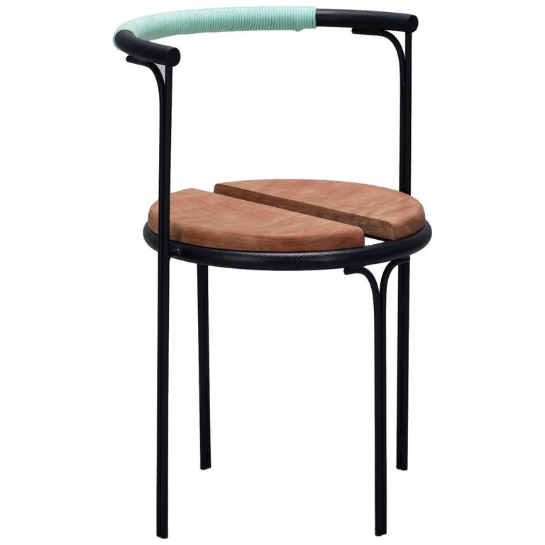Cafe Chair Caoba Wood Contemporary Style