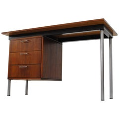 Pastoe Made to Measure Teak and Chrome Writing Desk