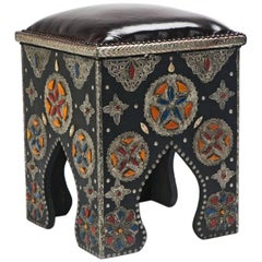 Pair of Handmade Moroccan Ottomans or Footstools