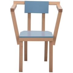 Contemporary Chair Aya Wood Blue