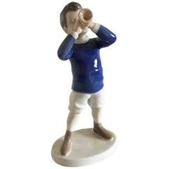 Bing & Grondahl Figurine Boy with Trumpet #1792