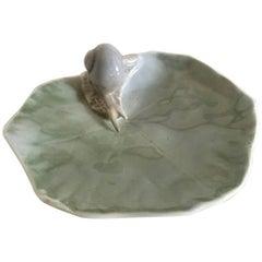Royal Copenhagen Art Nouveau Leaf Dish with Snail No. 6/2478