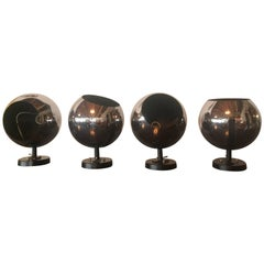 Vintage Midcentury Chrome Ball Wall or Ceiling Sconce Lightolier Light