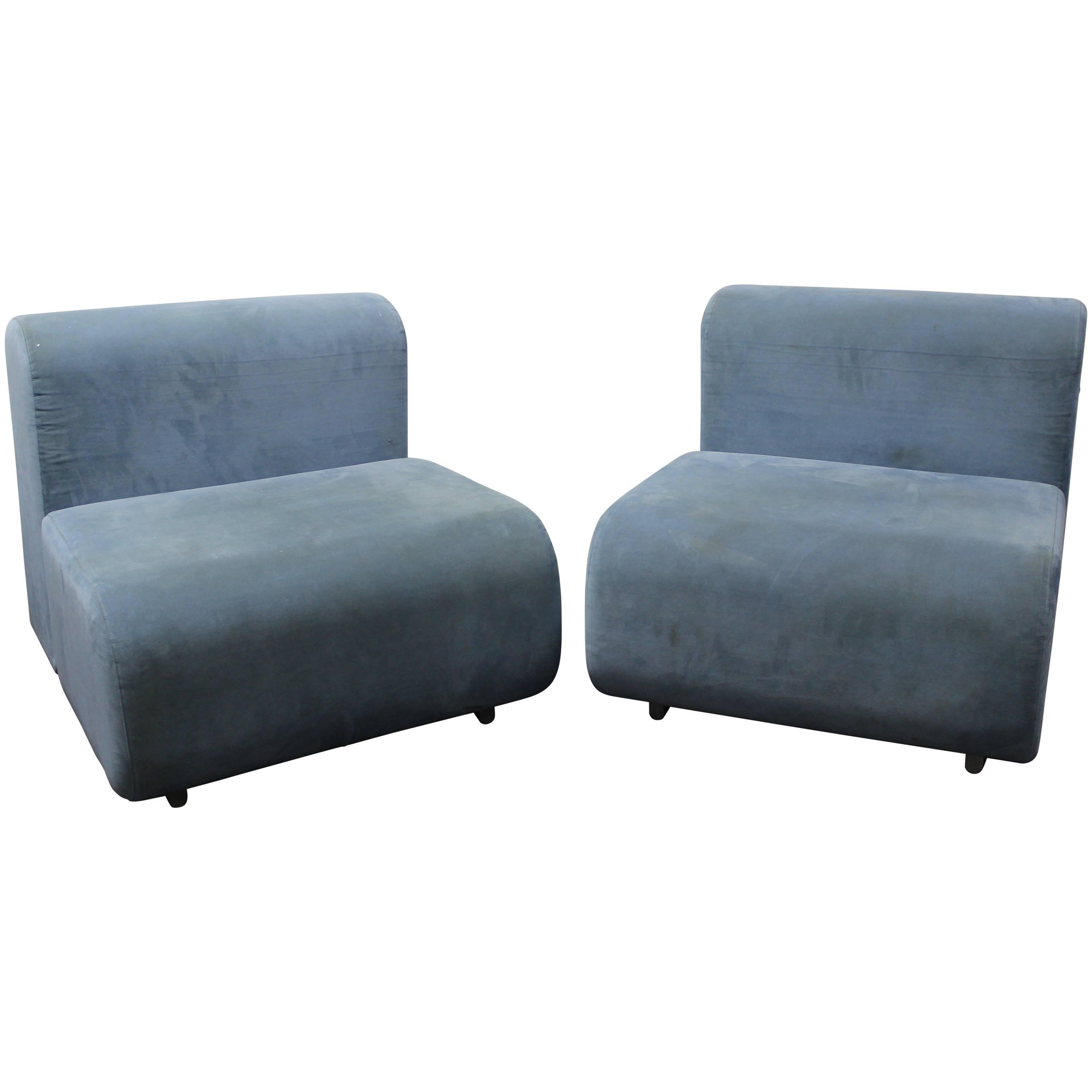 Pair of Suzanne Lounge Chairs by Kazuhide Takahama for Knoll