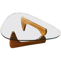Vintage Isamu Noguchi Glass Coffee Table for Herman Miller