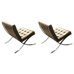 Early Vintage Original Authentic Mies van der Rohe Barcelona Chairs for Knoll