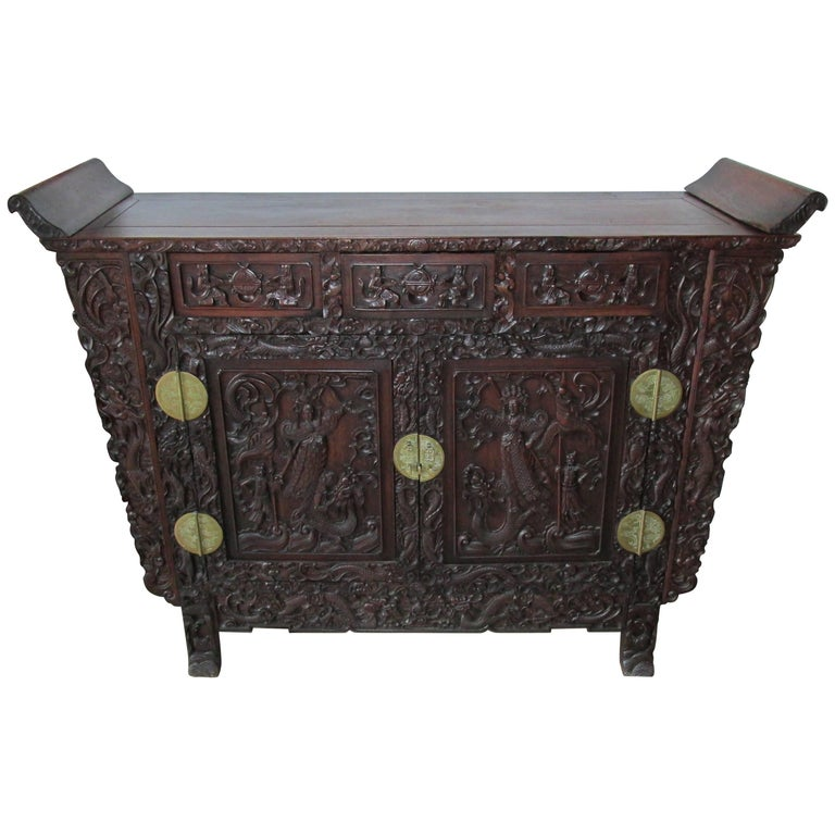 Late 19th Century Chinese Altar Cabinet in the Ming Style