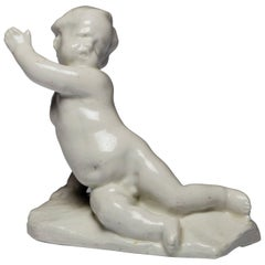 Figure of Pointing Boy by Bow Porcelain Factory, circa 1751
