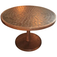 Jane and Gordon Martz Tile and Walnut Side or Cocktail Table