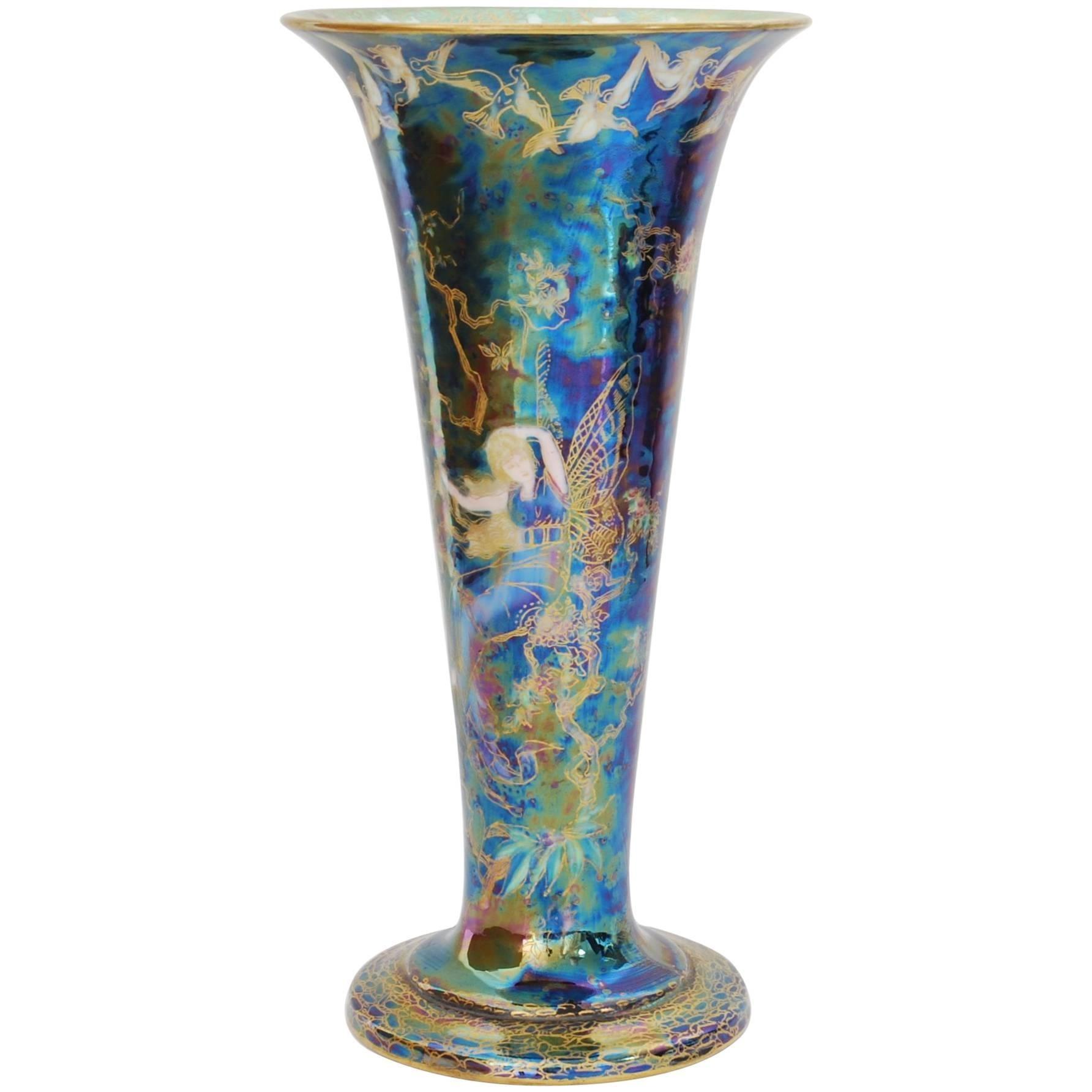 Fairyland Lustre Vase, Butterfly Women, Wedgwood, circa 1925