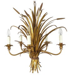 Italian Wheat Sheaf Five-Light Hanging Fixture