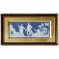 Slate Blue Jasperware Tablet, the Choice of Hercules, Wedgwood, circa 1790