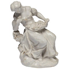 Figure, Smell, Bow Porcelain Factory, circa 1753