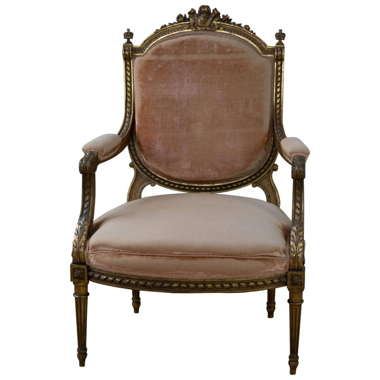 Louis XVI Style Fauteuil Chair