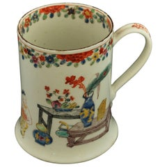 Tankard with Chinoiserie Decoration, Bow Porcelain Factory, circa 1752
