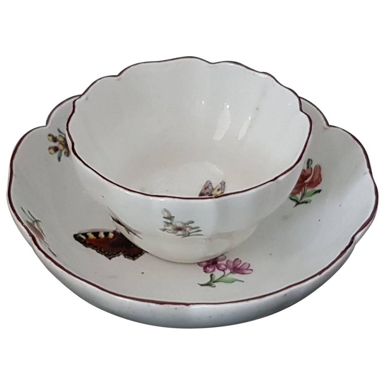 Tea bowl and Saucer, Chelsea, circa 1752