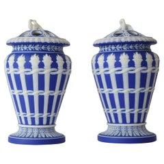 Pair of Jasperware Torch Vases, Wedgwood, circa 1820