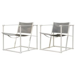 Pair of Cube Lounge Chair by Radboud Van Beekum for Pastoe