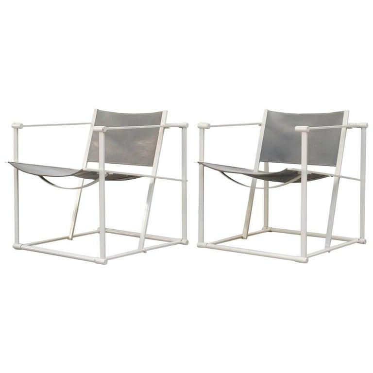 Pair of Cube Lounge Chair by Radboud Van Beekum for Pastoe