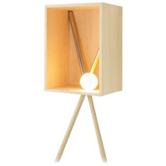Pénates Wall Light, Decorative Object, Wood, Gold