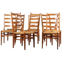 Set of Eight Chairs in the Gio Ponti Style