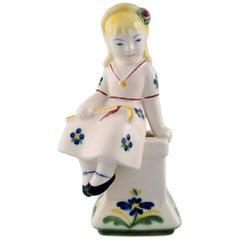 Aluminia, Denmark, Rare Childcare Figure of the Shepherdess from 1954